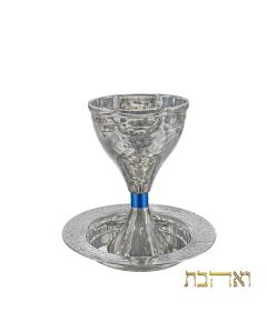 גביע קידוש וינטאג' משולב עם טבעת כחולה