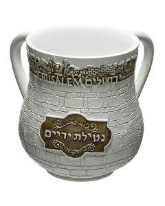 """נטלה מהודרת מפוליריזן 14 ס""""מ כיתוב ירושלים-זהב"""