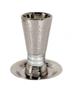 כוס קידוש - טבעות רחבות כסף