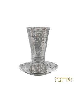 כוס קידוש מעוצבת עם טבעות כסופות רחבות