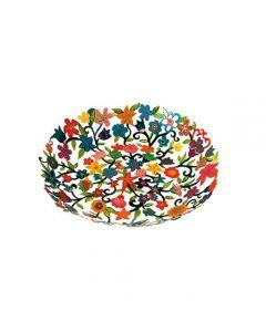 קערה קטנה בעיצוב פרחים עם ציור יד