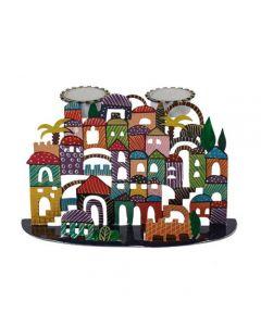 פמוטים - חיתוך לייזר + ציור יד -ירושלים