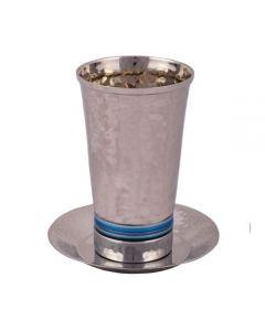 כוס קידוש עבודת פטיש 5 צבעים כחול