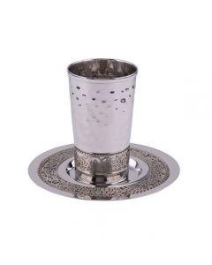 כוס קידוש עיטור ירושלים עבודת פטיש מט