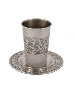 כוס קידוש נירוסטה - רימונים