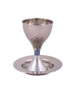 גביע קידוש עבודת פטיש כחול