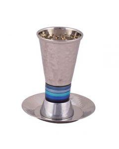 כוס קידוש - עבודת פטיש כחול