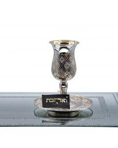 כוס קידוש חיתוך יהלום מכסף טהור