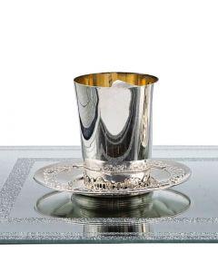 כוס קידוש כסף טהור מהודרת לקידוש