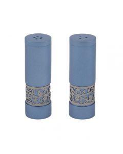 מלח פלפל + עיטור רימונים - כחול