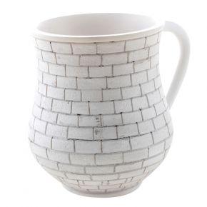 נטלה מהודרת בעיצוב שחור לבן מדגם אבן ירושלמית