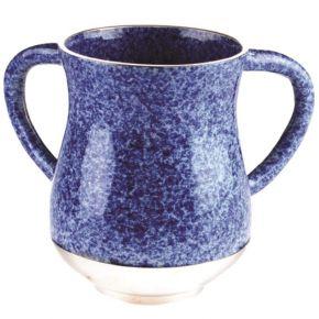 נטלה אופנתית בסגנון שיש צבעוני כחול