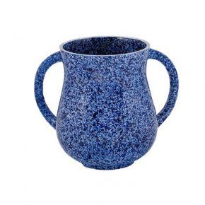 נטלה מעודנת דמוי שיש בצבע כחול כהה