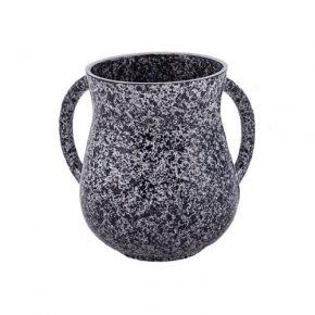 נטלה מעודנת דמוי שיש בצבע שחור