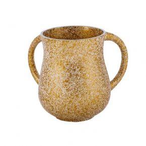 נטלה מעודנת דמוי שיש בצבע זהב